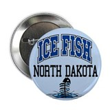 "Ice Fish North Dakota 2.25"" Button"