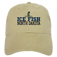 Ice Fish North Dakota Baseball Cap