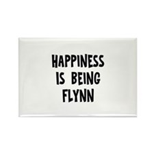 Happiness is being Flynn Rectangle Magnet (10 pack