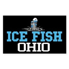 Ice Fish Ohio Rectangle Decal