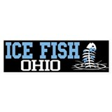 Ice Fish Ohio Bumper Bumper Sticker