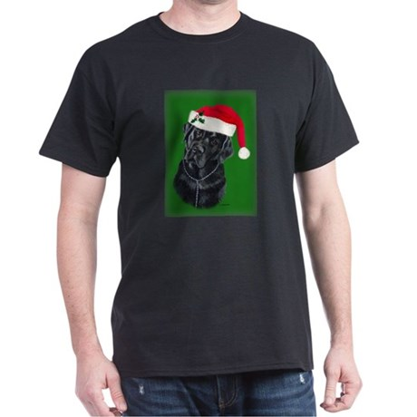 Lola, The Black Lab Santa Dark T-Shirt