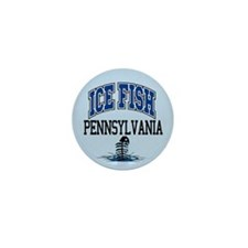Ice Fish Pennsylvania Mini Button (10 pack)