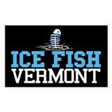 Ice Fish Vermont Rectangle Bumper Stickers