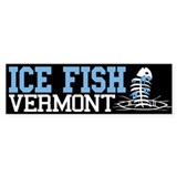 Ice Fish Vermont Bumper Bumper Stickers