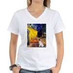 Cafe / JRT Women's V-Neck T-Shirt