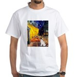 Cafe / JRT White T-Shirt