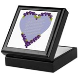 Forget Me Not Memorial Keepsake Box