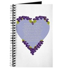 Forget Me Not Memorial Journal