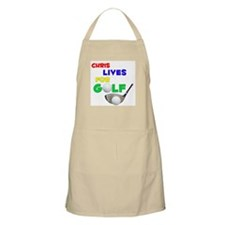Chris Lives for Golf - BBQ Apron