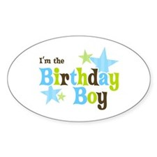 Birthday Boy Oval Decal