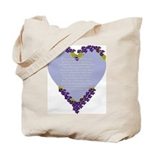 Forget Me Not Memorial Tote Bag
