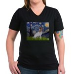 Starry / JRT Women's V-Neck Dark T-Shirt
