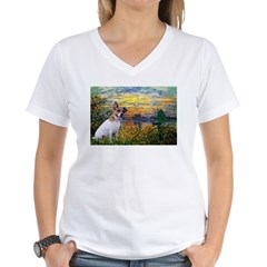 Sunset / JRT Women's V-Neck T-Shirt