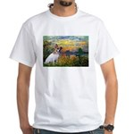 Sunset / JRT White T-Shirt