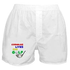 Cornelius Lives for Golf - Boxer Shorts