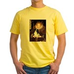 Queen/Japanese Chin Yellow T-Shirt