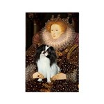 Queen/Japanese Chin Rectangle Magnet