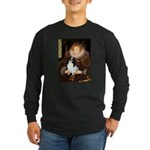 Queen/Japanese Chin Long Sleeve Dark T-Shirt
