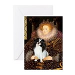 Queen/Japanese Chin Greeting Cards (Pk of 20)