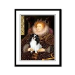 Queen/Japanese Chin Framed Panel Print
