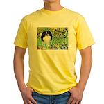 Irises/Japanese Chin Yellow T-Shirt