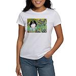 Irises/Japanese Chin Women's T-Shirt