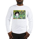 Irises/Japanese Chin Long Sleeve T-Shirt