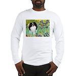 Irises/Japanese Chin Long Sleeve T-Shirt