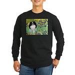 Irises/Japanese Chin Long Sleeve Dark T-Shirt