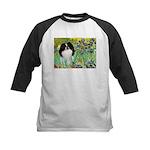Irises/Japanese Chin Kids Baseball Jersey