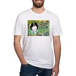 Irises/Japanese Chin Fitted T-Shirt