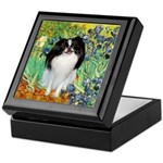 Irises/Japanese Chin Keepsake Box
