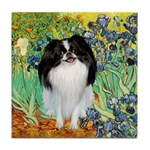 Irises/Japanese Chin Tile Coaster