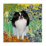 Irises/Japanese Chin Tile Coaster