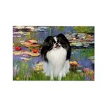 Lilies (#2)/Japanese Chin Rectangle Magnet