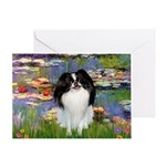 Lilies (#2)/Japanese Chin Greeting Card