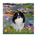 Lilies (#2)/Japanese Chin Tile Coaster
