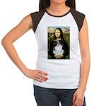 Mona Lisa/Japanese Chin Women's Cap Sleeve T-Shirt