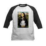 Mona Lisa/Japanese Chin Kids Baseball Jersey