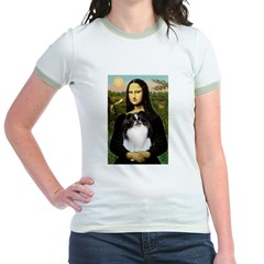 Mona Lisa/Japanese Chin Jr. Ringer T-Shirt