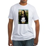 Mona Lisa/Japanese Chin Fitted T-Shirt