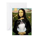 Mona Lisa/Japanese Chin Greeting Cards (Pk of 20)