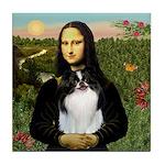 Mona Lisa/Japanese Chin Tile Coaster