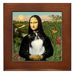 Mona Lisa/Japanese Chin Framed Tile