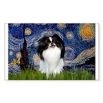 Starry/Japanese Chin Sticker (Rectangle)