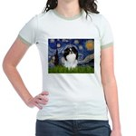 Starry/Japanese Chin Jr. Ringer T-Shirt