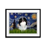 Starry/Japanese Chin Framed Panel Print