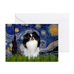 Starry/Japanese Chin Greeting Cards (Pk of 10)