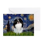 Starry/Japanese Chin Greeting Card